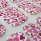 Valantine CHIX NAILS Sweethearts Pink Funky Vinyl Nail Wraps Fingers Toes Foils