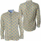 Maddox Street Gabicci Mens Blue Woven Shirt Smart Patterned Designer Top S-3XL