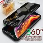 360° Full Mirror Case +Tempered Glass Protector Full Cover for iPhone XS Max XR