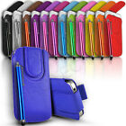 Slim Magnetic Leather Pull Tab Flip Case Cover Pouch & Stylus for Various Phones