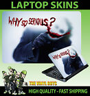 Laptop Skin Sticker Joker Why So Serious Bloody Self Adhesive vinyl Various Size