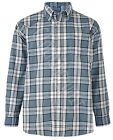 Mens Big Size Poly cotton Check LONG Sleeve Shirt Soft Work Casual 2XL