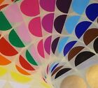 Large 63mm Round / Circular Colour Code Dots Stickers Blank Sticky Labels