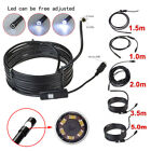 USB Endoscope 7mm Waterproof Borescope Inspection Camera Scope Android video cam