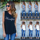New Fashion Womens Ladies Casual Loose Tops Sleeveless T-Shirt Summer Blouse