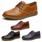 Fashion Men's Casual Oxfords Flats Shoes Wing Tip Leather Lace Up Dress Shoes
