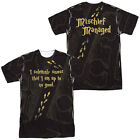Harry Potter Movie MARAUDER'S MAP 2-Sided Sublimated All Over Print Poly T-Shirt