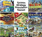 Tycoon Games Strategy Simulation PC Windows XP Vista 7 8 10 Sealed New