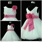 Easter Pinks Whites Wedding Party Bridesmaid Flowers Girls Dresses SIZE 1 - 14T