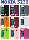 AMZER Plain Silicone Jelly Skin Case Gel Back Protective Cover For Nokia 5230