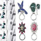Womens Ladies Fashion Brooches Rhinestone Glasses Frame Finished Jewelry Series