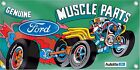 NEW Genuine Ford Muscle Parts Car Banner Retro Vintage Logo Emblem Sign Replica