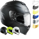 HJC IS-17 Plain Motorbike Helmet & Visor Integral Race Biker Crash Lid Pinlock