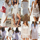 Lot Women Lace Crochet Bikini Cover Up Swimwear Bathing Suit Summer Beach Dress