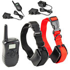 New Rechargeable Waterproof LCD Shock Vibrate Remote 2 Dog Pet Training Collar