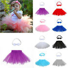 Baby Girls Newborn Tutu Skirt & Headband Outfit Set Photo Shoot Prop 3-12 Months