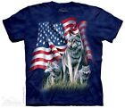 New The Mountain Patriotic Wolf Flag T Shirt