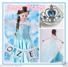 Easter Kid FREE Tiara Elsa Anna Princess Party Costume Dresses SIZE 3 4 5 6 7 8Y