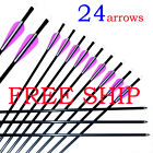Archery Hunter Nocks Fletched Arrows Fiberglass Arrow Steel Point