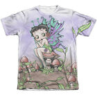 Betty Boop FAIRY 1-Sided Sublimated Big Print Poly Cotton T-Shirt $22.83 USD