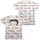 Betty Boop VINTAGE STRIPS 2-Sided Sublimated All Over Print Poly Cotton T-Shirt $29.85 USD
