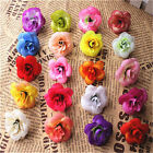 Multicolor Artificial Flowers Mini 4CM Rose Head Use For Wedding Decoration DIY