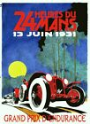 LE MANS 24 HOURS - 1931    Poster.