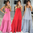 New Womens Hippie Boho Summer Dress Evening Cocktail Party Beach Long Maxi Dress