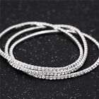 925 Stering Silver Plated Slim Cluster Prong Setting CZ Tennis Link Chain Thin