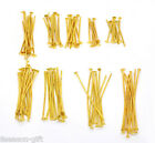 Wholesale Lots HX Mixed Gold Plated Head Pins Findings