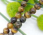 Wholesale Lots HX Tiger Eyes Semi-precious Gemstone Beads 6mm