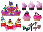 Glitzy Girl Purse Heels Assortment Cupcake Picks Cake Toppers Appetizer Decorat