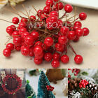 100pcs Artificial Berry Fruit Hanging Ornament Party Favor Home Decor Craft 10mm