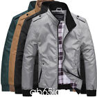 Mens Slim collar jackets fashion jacket Tops Casual coat outerwear XS XL
