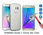 Genuine Tempered Glass LCD Screen Protector & TPU Case For Samsung Galaxy A3