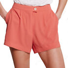 NEW Womens Tailored Smart Shorts Ladies Pleated Summer Short Size 8 10 12 14