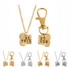 Unisex Gold Silver Puzzle Bone Pendant Necklace Long Chain Collar Jewelry HOT