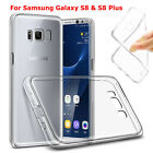 Samsung Galaxy S8 / S8 Plus Case Thin Clear Silicone Bumper Protective Gel Cover