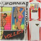 "Vintage Sexy Beach California Bodyguard Volley Ball Tshirt Large 21"" Pit2Pit"