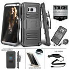 BUNDLE Case For Samsung Galaxy S8 / S8 Plus Refined TOUGH Armor Black Holster
