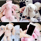 For iPhone 6S 7 Plus Cute 3D Rabbit Fuzzy Fluffy Hair  Long Ears Fur Case Cover