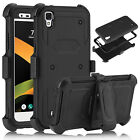 For LG Tribute HD LS676 Shockproof Kickstand Belt Clip Rugged Phone Case Cover
