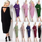 Women Long Cocktail Backless Ladies Summer Midi Dress Baggy New Plus Size 8-26