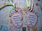 10 x Personalised Baby Feet Thank You Baby Shower Tags