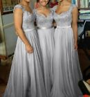 New Chiffon Formal Evening Bridesmaid Dresses Party Ball Prom Gown Dress 6-24+++