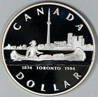 Pic of 1984 Canada Proof Silver Dollar Item #A7394 For Sale