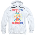 Garfield Cat Uncle Sam I WANT YOU to Feed Me Licensed Sweatshirt Hoodie