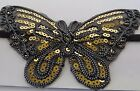 CHARLESTON FLAPPER BUTTERFLY SEQUIN STRETCH HEADBAND GOLD SILVER PINK BLACK new