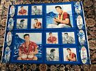 "Elvis Presley Hawaii cotton fabric panel, 35"" by 45"""