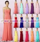 Formal Long Chiffon Ball Gown Party Prom Evening Bridesmaid Dresses Size 6-24